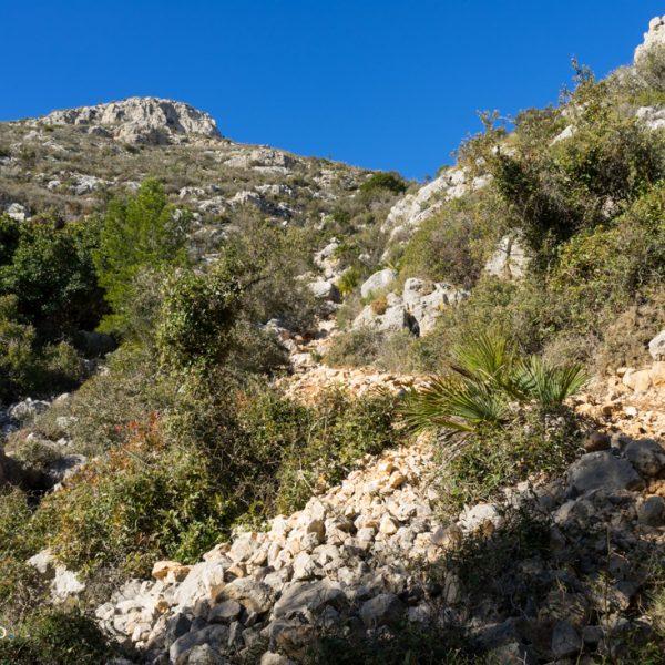 Aufstieg auf den Gipfel der Sierra de Olta