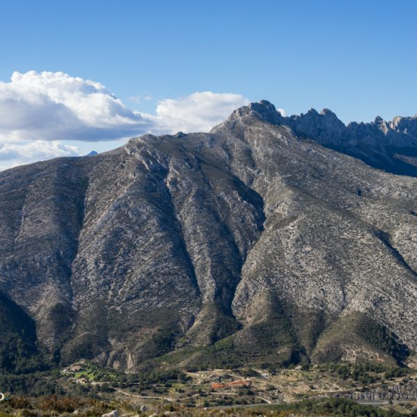 Blick in die Sierra de Bernia