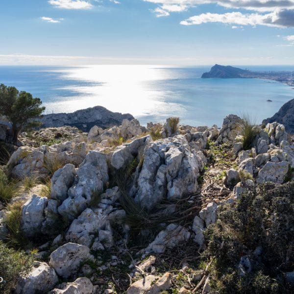 Südgipfel La Mola in der Sierra de Oltà, Sierra Gelada
