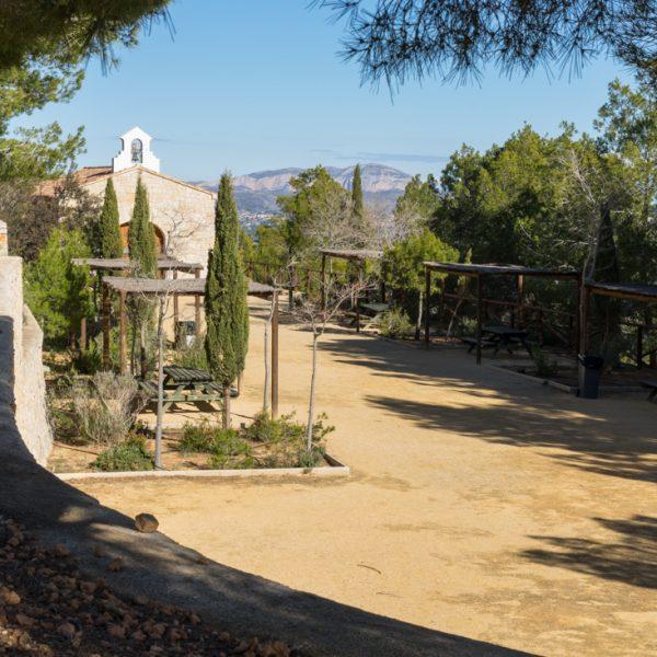 Rastplatz Ermita Vella in der Sierra de Olta