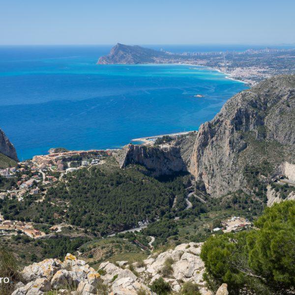 Sierra de Oltà, vistas de Mascarat, Sierra Helada y Benidorm