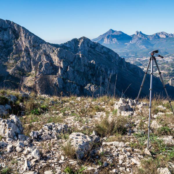 Ausblick von Orenga auf Morro de l´Aspre und Puig Campana