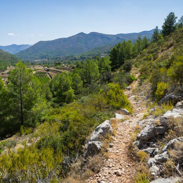 Aufstieg in den Barranco Negre, Rückblick auf Alt de l´Ample