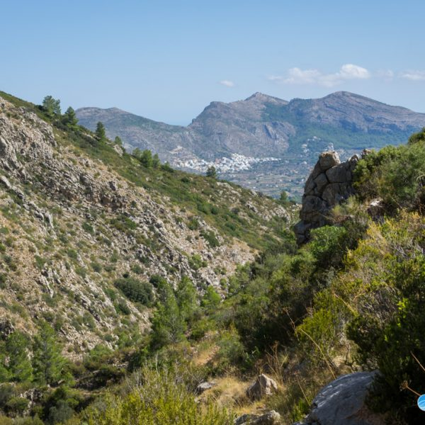 Barranco Negre, Ausblick in die Sierra del Castell de la Solana