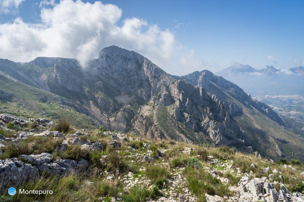 vistas de Orenga a Morro de l´Aspre y Puig Campana