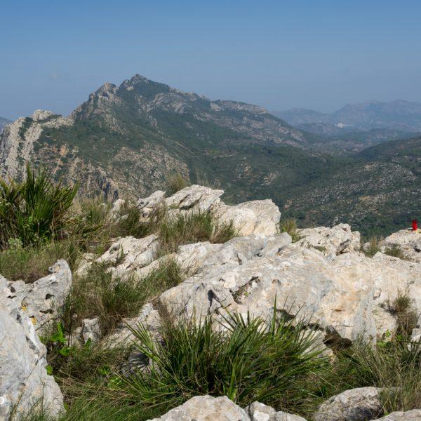 La Orenga (Peñón de l´Orenga) Bernia, vistas a Sierra del Ferrer
