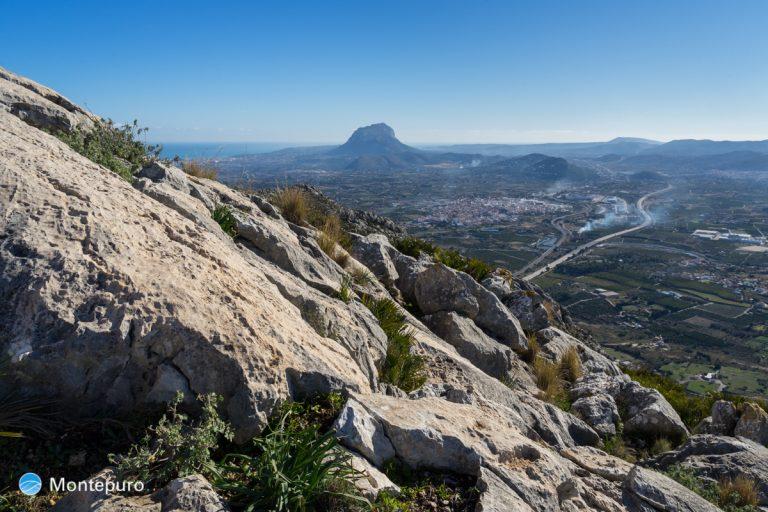 Sierra de Segària, vistas del Montgó