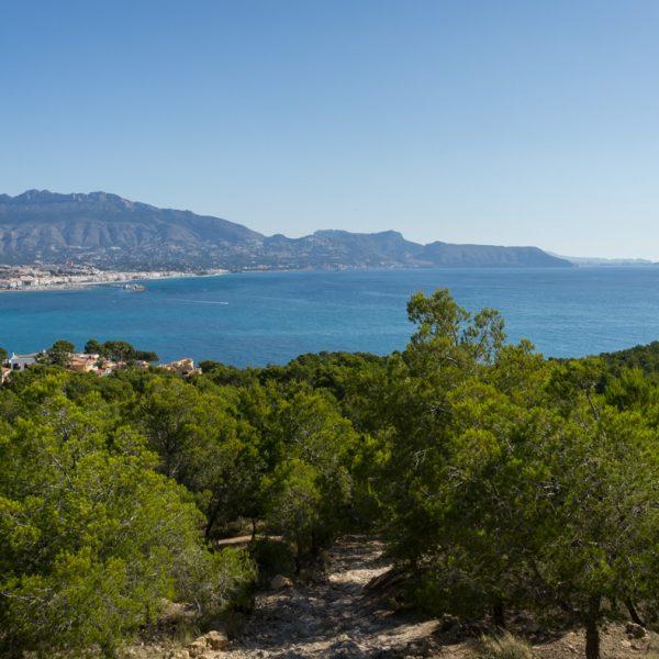 bahía de Altea, Sierra de Bèrnia, Oltà, Morro de Toix y Ifach