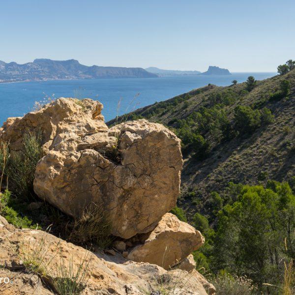 Panorama de Sierra Helada a Oltà, Morro de Toix y Ifach