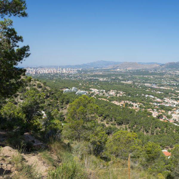 Sierra Helada, vistas a Benidorm y Puig Campana