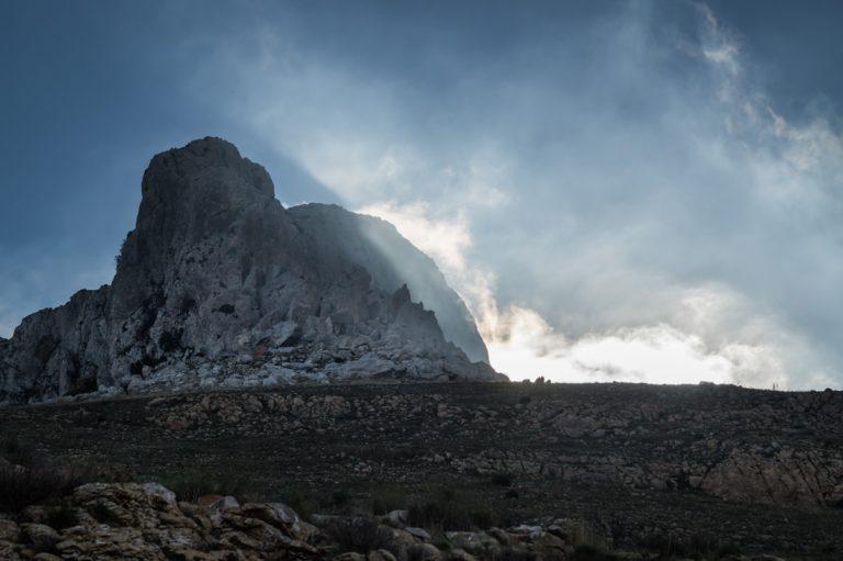 Sierra de Bernia, luz de la mañana