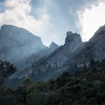 Lichtstimmung am Gebirgskamm, Sierra de Bernia