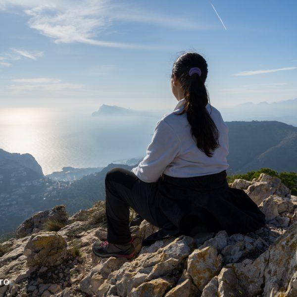 Sierra de Oltà, con vistas de la Sierra Helada, Morro de Toix y Mascarat
