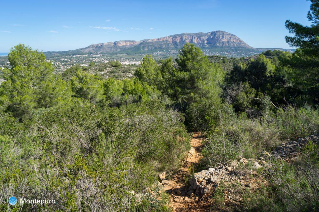 Aufstieg Sierra de Seldetes, Blick auf den Montgó