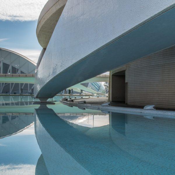 Blick vom Palau de les Arts zum Museu de les Ciències, Valencia