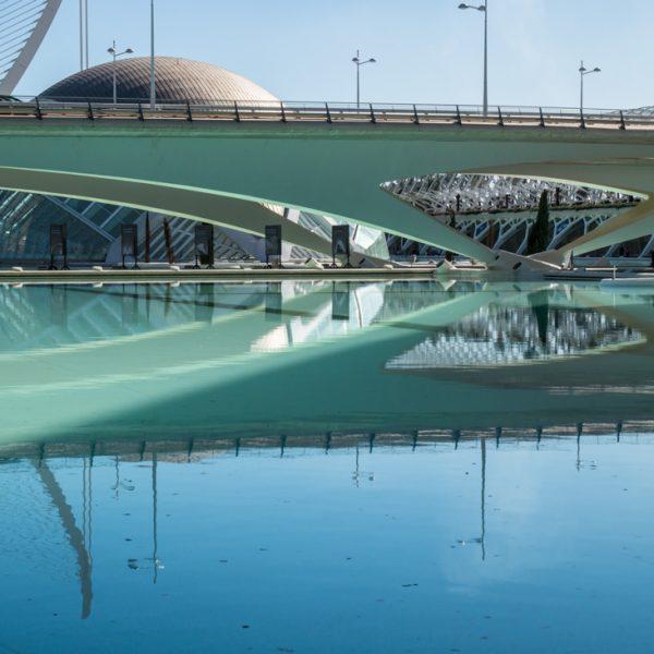 Puente de Monteolivete, Stadt der Künste und der Wissenschaften in Valencia