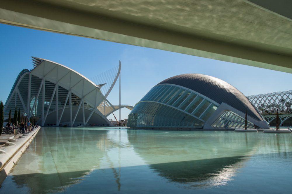 Hemisfèric und Museu de les Ciències, Stadt der Künste und der Wissenschaften in Valencia