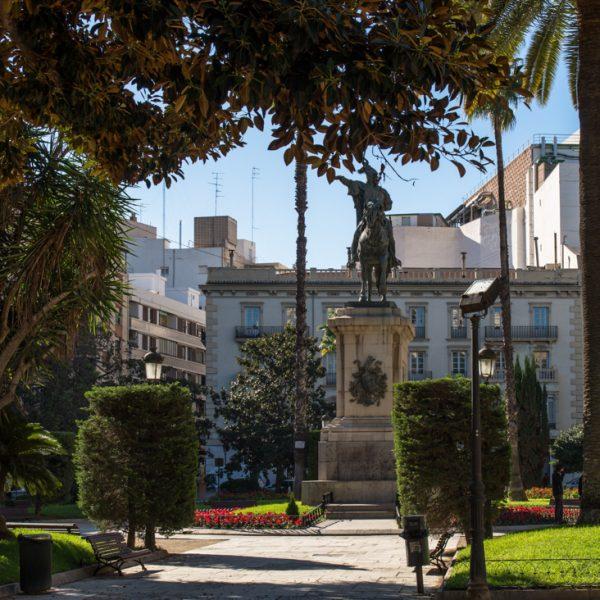 Jardin del Parterre Valencia, Denkmal von König Jaume I
