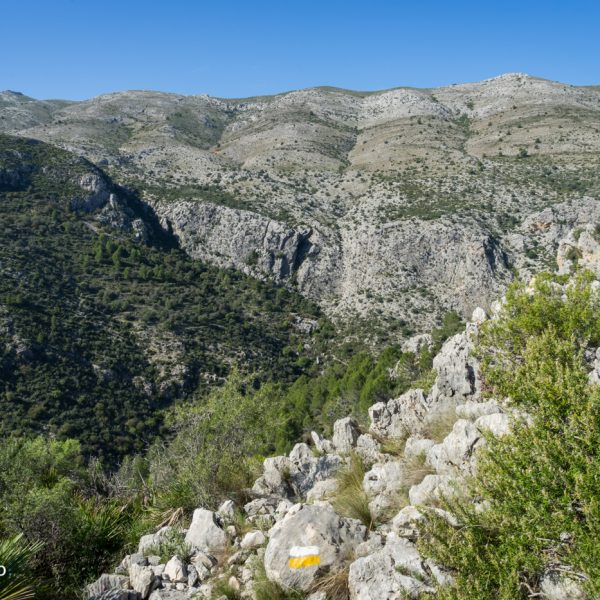 Blick in die Sierra de Carrasca