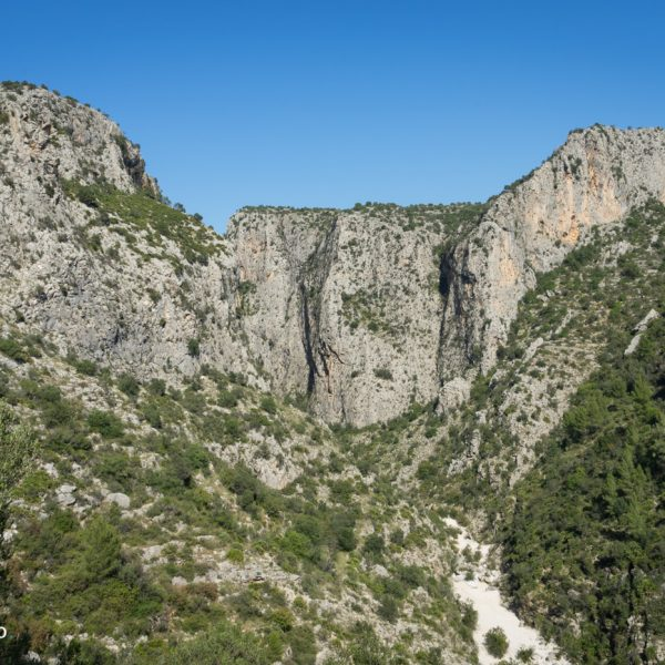 Barranco del Infierno, Steilwände